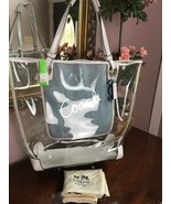 New Coach Clear Transparent Beach Tote Bag X-Large F16594 Seahorse & Cra... - $197.99