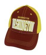 Washington Solid Front Air Mesh Back Adjustable Baseball Cap (Burgundy/G... - $12.95