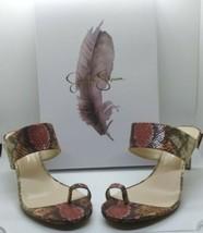 Jessica Simpson Mauve- Copper Snake Print Heels - 8.5M - $26.72