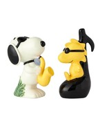 Peanuts Snoopy as Joe Cool and Woodstock Ceramic Salt and Pepper Shaker ... - $24.18
