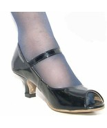 AMERICAN EAGLE Patent Upper Open Toe Pump Women's Size 2 easy Ankle Strap (1947) - $4.99