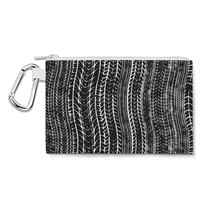 Tire Marks Car Bike Trucker Canvas Zip Pouch - $15.99+