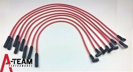 AMC JEEP V8 290 304 343 360 390 401 67-90 8mm HEI SPARK PLUG WIRES RED image 2