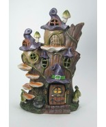 Lighted Haunted Witch Tree Stump House Halloween Decor Color Changing 10... - $32.62