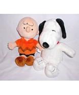 Kohls Cares Peanuts Gang Snoopy Charlie Brown Orange Shirt Plush Stuffed... - $23.74