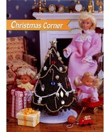 Christmas Corner fits Barbie Doll Tree Gifts Plastic Canvas Pattern NEW - $2.94