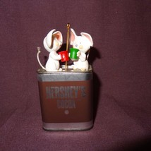 "Hersheys Cocoa Mice Christmas Ornament Resin Metal 3""  Hallmark Cards 1993 - $12.89"