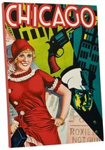 """Chicago Musical Vintage"" Advertising Poster Gallery Wrapped Canvas  - $42.90+"