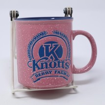 Knott's Berry Farm Coffee Mug Pink Speckled Stoneware Tea Cup 12oz Colle... - $28.01