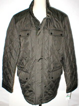 New NWT L Mens Coat Michael Kors Olive Dark Green Jacket Hidden Rain Hoo... - $180.00