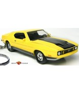 RARE KEY CHAIN 73 YELLOW FORD MUSTANG MACH 1 NEW 1973 ELEANOR GONE IN 60... - $47.18