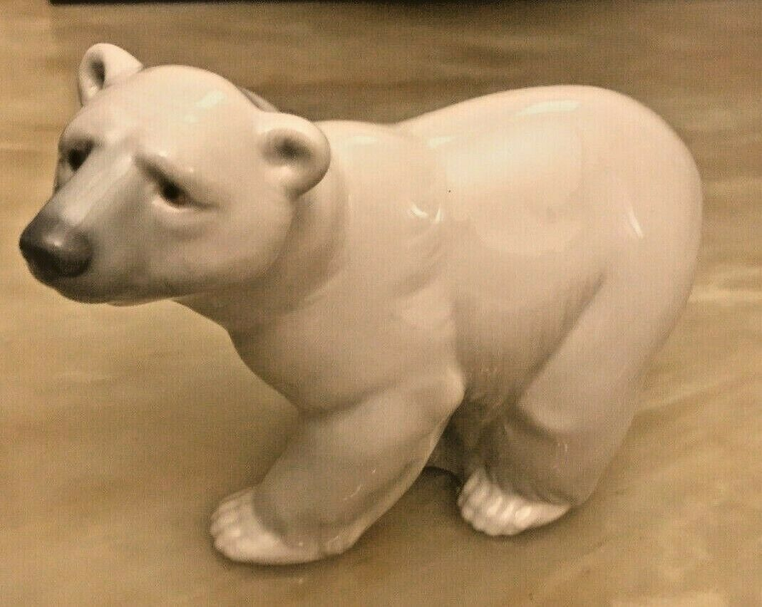 "Primary image for Vintage LLadro Figurine Figurine ""Attentive Polar Bear"" Piece 1207 - 5"" Long"
