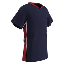 Champro Youth Header Soccer Jersey Navy Scarlet White Small - $22.15