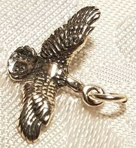 Duck  Flying Bird STAMPED 925 STERLING SILVER CHARM image 3