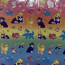 2x Lisa Frank Vintage Stickers Sunflower Kittens Mini Size S686 S673 ONE MISSING image 3