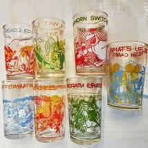 Warner Bros Cartoon Jelly Glass CHOICE Porky Tweety Road Runner Bugs Tumbler Cup - $8.91+