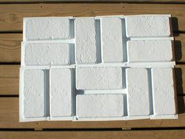 SIX 6x12 DIY RUSTIC CONCRETE BRICK MOLDS MAKE BRICK VENEER WALL TILE FOR PENNIES image 5