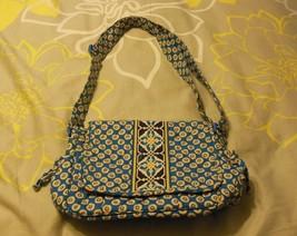 Vera Bradley Riviera Blue & Yellow Handbag - £16.05 GBP