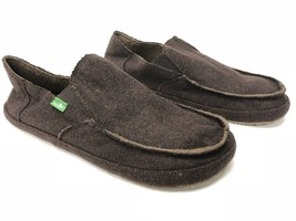 Sanuk Rounder Peacoat Hobo Sidewalk Surfer Shoes Mens Slip On Loafers Brown New - $39.99
