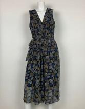 Anne Klein Dress Geometric Sleeveless Belt Multicolor Sz 12 NEW NWT image 2