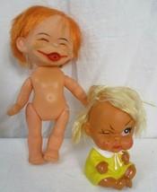 "Vintage ""Winking"" Moody Cutie Rubber Doll Made In Korea & Japan Moody Doll  - $29.69"
