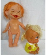 "Vintage ""Winking"" Moody Cutie Rubber Doll Made In Korea & Japan Moody Doll  - $29.69"