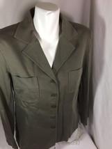 Talbots Women Petite Gray Jacket Size 12 Long Sleeve  Button Up Bin68#19 - $14.03