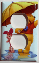 Winnie the Pooh & Piglet Light Switch Duplex Outlet wall Cover Plate Home decor image 2