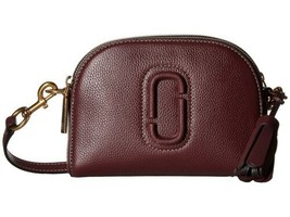 Marc Jacobs Shutter Leather Crossbody (Burgundy, S) - $206.89