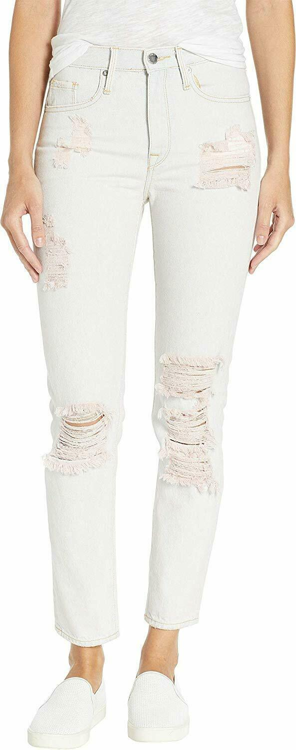 Juicy Couture Women'S Pink Pigment Distressed Girlfriend Jeans