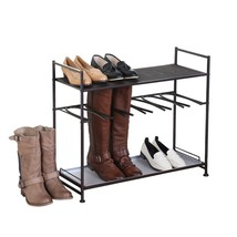 Tidy Living - Stackable Boot And Shoe Rack Meta... - $59.99