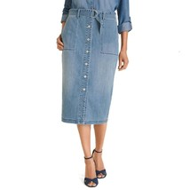Chico's Women's Button Front Midi Denim Skirt - $79.00