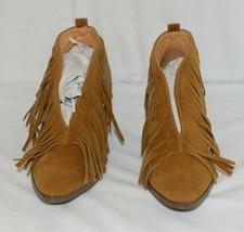 Beast Fashion Carrie 01 Camel Fringe Slip On Shoes Size 5 And Half image 2