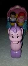 Fisher Price Little People, Disney Princess Ariel and Eric's Coach/Carri... - $12.86