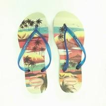 Havianas Slim Paisage USA 7  Flip Flop Sandals Tropical Palm Tree Beach ... - $17.82