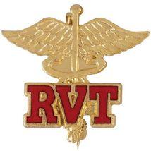 RVT Caduceus Lapel Pin Veterinary Technician Emblem Vet Office Graduatio... - $12.84
