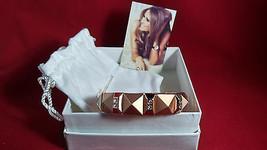 Melania Trump GOLD  Tone  Stretch Bracelet with CZs accent   Nwt  L22 - ₨3,502.03 INR
