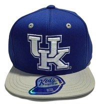 NCAA Kentucky Wildcats Cap, Kids Boys, Tech Flat Brim Snap Hat, Royal Blue - $14.54