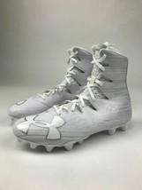 Under Armour Highlight MC Football Cleat Shoe Size 9 White Metallic 1297358 - $79.19