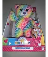 "BUILD-A-BEAR WORKSHOP Secret Diary Bear Rainbow RECORDABLE 11"" New - $12.60"