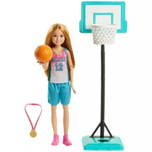New! Barbie Team Stacie Basketball Doll with Hoop Playset MATTEL NIB/Sealed - $23.99