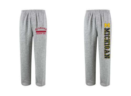 Men's NCAA Reprise Knit Lounge Sleep Pants Licensed NEW Alabama Michigan