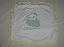 Baby Gap White Yellow Knit Sweater Blanket Nautical Whale Cotton - $49.49