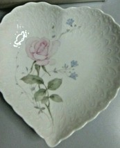 Vintage Mikasa Japan April Rose With Love Heart Dish Bone China Gift Box... - $14.97