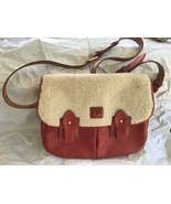 Dooney & Bourke  NWOT Red Leather Messenger Bag with Sherpa - $180.00