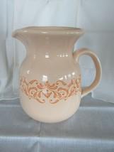 FRANCISCAN Gingersnap Pottery Large Pitcher Carafe Vintage 1970s 64oz EUC - $49.95