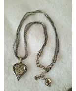 Brighton French Quarter Ophelia Heart Triple Foxtail Strand Silver Necklace - $39.60
