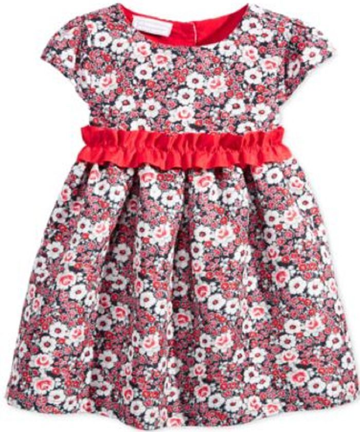 First Impressions Baby Girls' Floral-Print Party Dress, Size 6-9 Months,MSRP $48 - $17.81