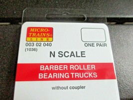 Micro-Trains Stock # 00302040 (1036) Barber Roller Bearing Trucks  No/Couplers N image 2