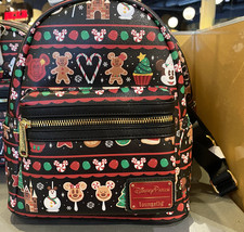 Disney Parks Christmas Holiday Mickey Mouse Icon Small Backpack NEW - $149.90
